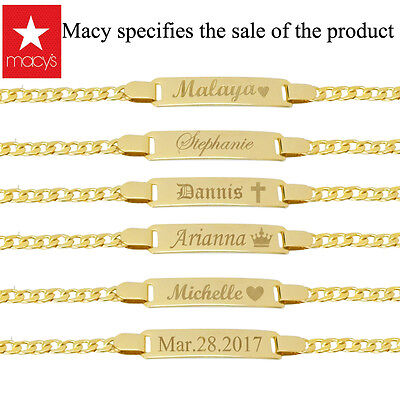 Personalized Gold Id Bracelet Silver Baby ID Bracelet Baby Girl and Boy Bracelet