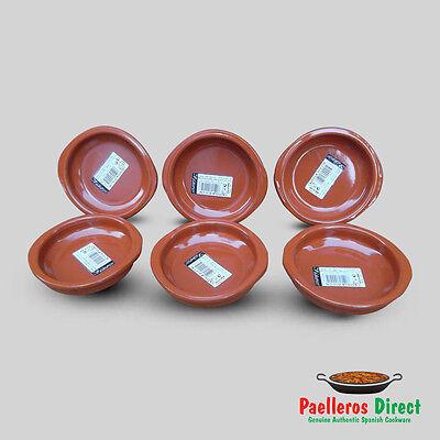 Set of 6 x 10cm Spanish Terracotta Tapas Dishes / Cazuelas