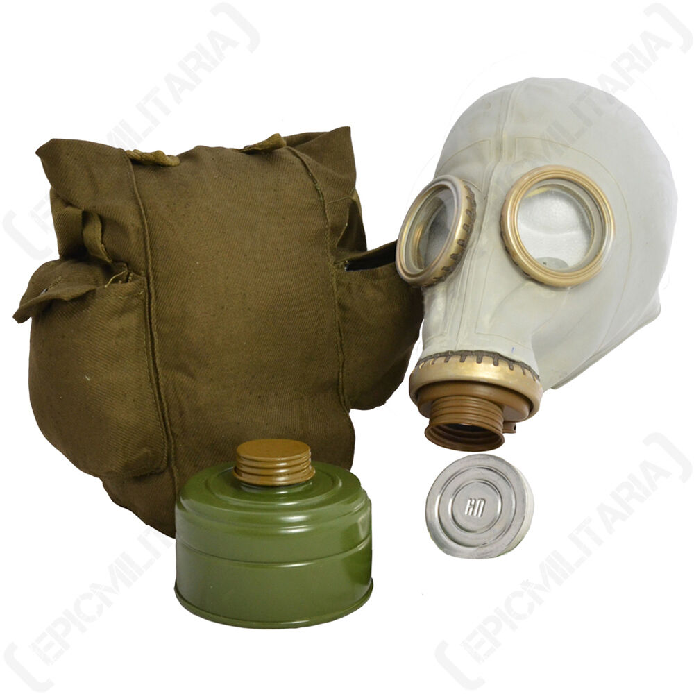 Russian GP5 GAS MASK with Accessories -All Sizes SOVIET RESPIRATOR with Bag