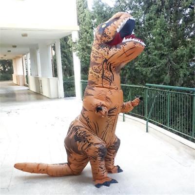 dinosauro t-rex gonfiabile costume carnevale mascotte gigante halloween adulti