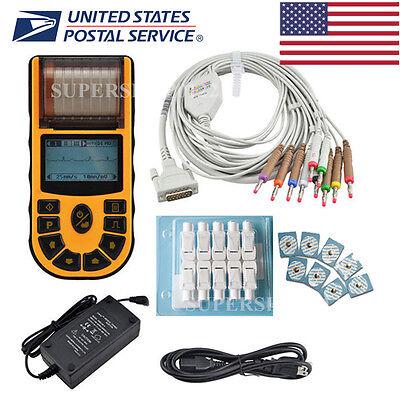 Usa Fda Handheld Ecgekg Machine1 Channel 12 Lead Disposable Electrodesprinter