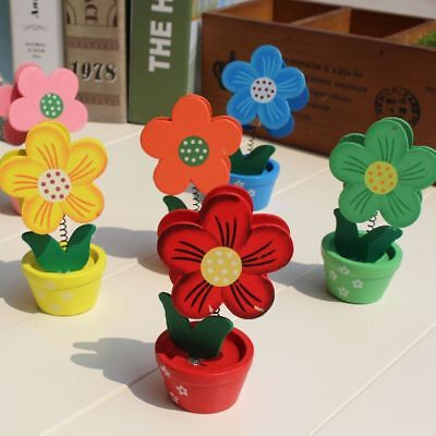Office Supply Sun Flower Decoration Desk Card Holders Photo Clip Memo Stand