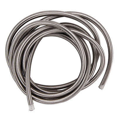 8AN AN8 Stainless Steel Double Braided Fuel Hose Oil Gas Line Hose 20 Feet Double Braided Stainless Steel Hose