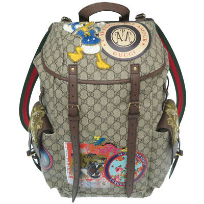 AUTHENTIC GUCCI 460029 Disney Neo vintage Soft GG Supreme Backpack Daypack 0109