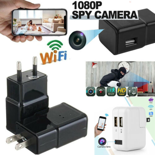 HD 1080P Hidden Camera Security Wifi Nanny Cam USB Wall Charger Adapter Plug cam