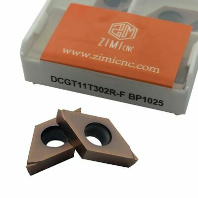 10pcs Dcgt11t302r-f Bp1025 Threading Carbide Inserts Cutting Tool For Lathe Cnc