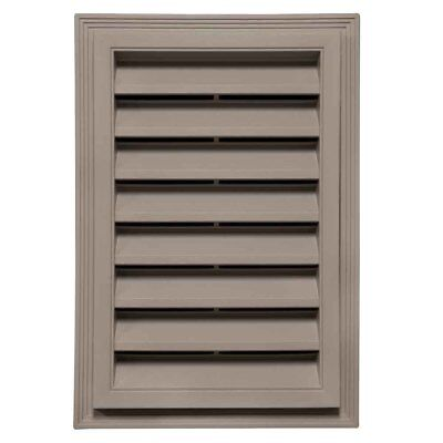 "Mid-America Vinyl Rectangle Gable Vents - 12"" x 18"" 008 Clay"