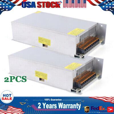 2 Dc 12v 50a Amp 600w 110v 220v Power Supply Led Strip Light 12v Ac 220 110