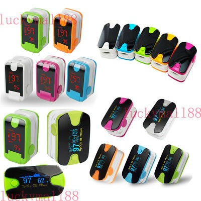 Fda Fingertip Pulse Oximeter Spo2 Heart Rate Blood Oxygen Meter Monitor 3 Type