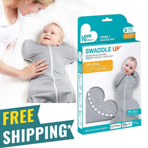 Love To Dream Swaddle UP, Gray, Small, 7-13 lbs., Dramatically Better Sleep