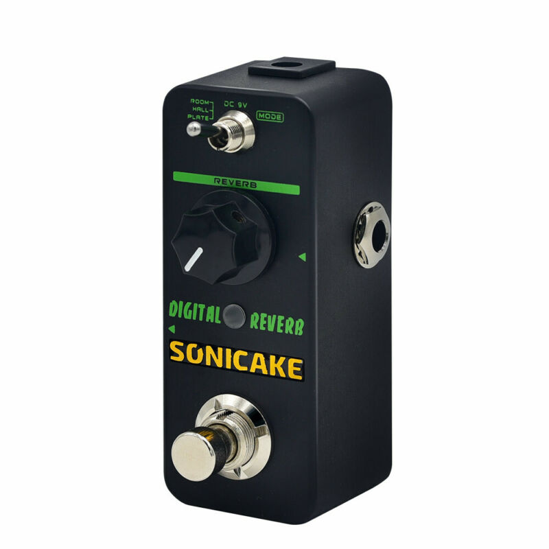 SONICAKE Digital Reverb Room Hall Plate Guitar Effect Pedal True Bypass QSS-06