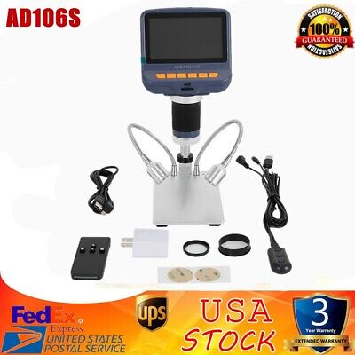 Andonstar Ad106s Usb Digital Microscope 4.3 Hd 1080p For Smd Soldering Repair