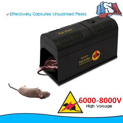 Electronic Mouse Trap Control Rat Killer Pest Mice Electric Rodent Zapper
