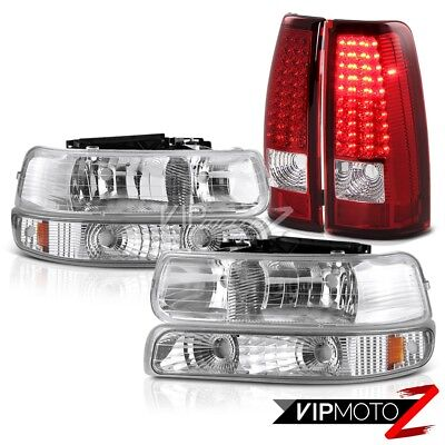 1999-2000-2001-2002 Chevy Silverado Signal Bumper Headlights LED Red Taillights