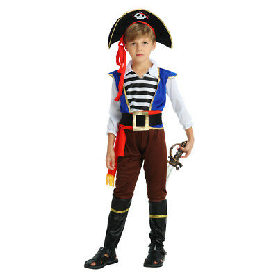 Boy's Napoleon pirate Dress Up Kids Costume Cosplay Halloween Party - Pirate Kids Dress Up