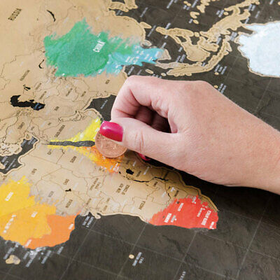 Scratch World Travel Map