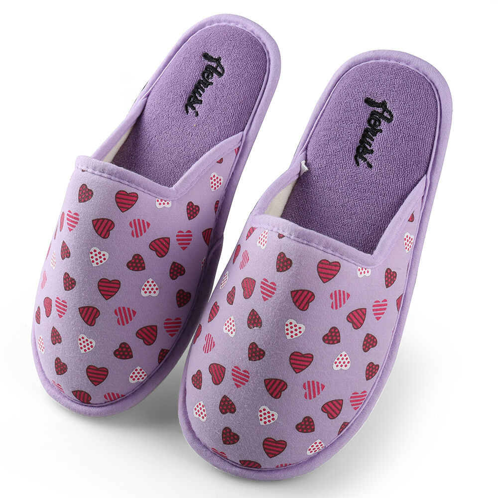 Lavender Aerusi Women Winter Cotton-Padded Soft Slippers Home Floor Shoes