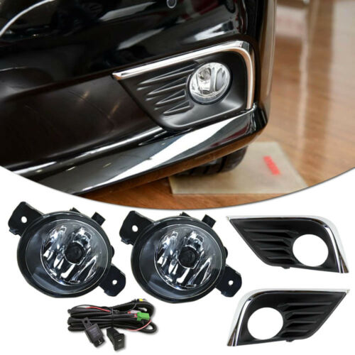 Front Bumper Fog Light Lamp Cover Grille Wire Switch Kit For Nissan Altima 2016+