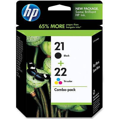 ORIGINAL HP HEWLETT PACKARD BLACK & COLOUR INK CARTRIDGE VALUE PACK HP21 & HP22 - Hewlett Packard Value Pack
