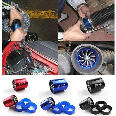Car Parts Supercharger PowersAir Intake Dual Fan Turbine Turbo Black B2Z