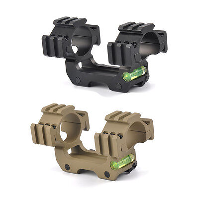Double Ring Bubble Level 30mm Rifle Scopes Mount Fits 20mm Weaver/Picatinny Rail