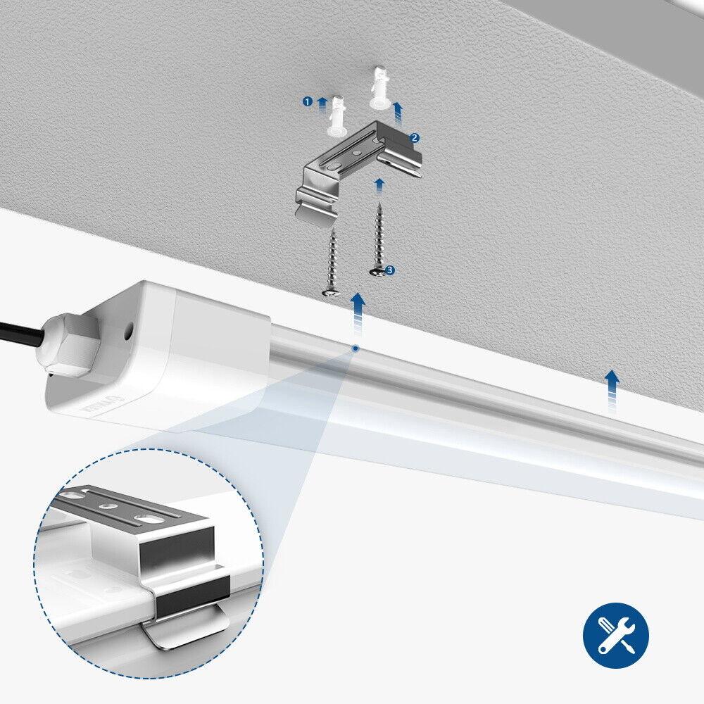 60//120//150cm LED Feuchtraumleuchte Feuchtraumlampe 18//36//45W Wannenleuchte IP65