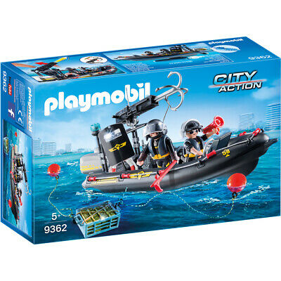 Playmobil City Action Tactical Unit SWAT Boat Playset 9362