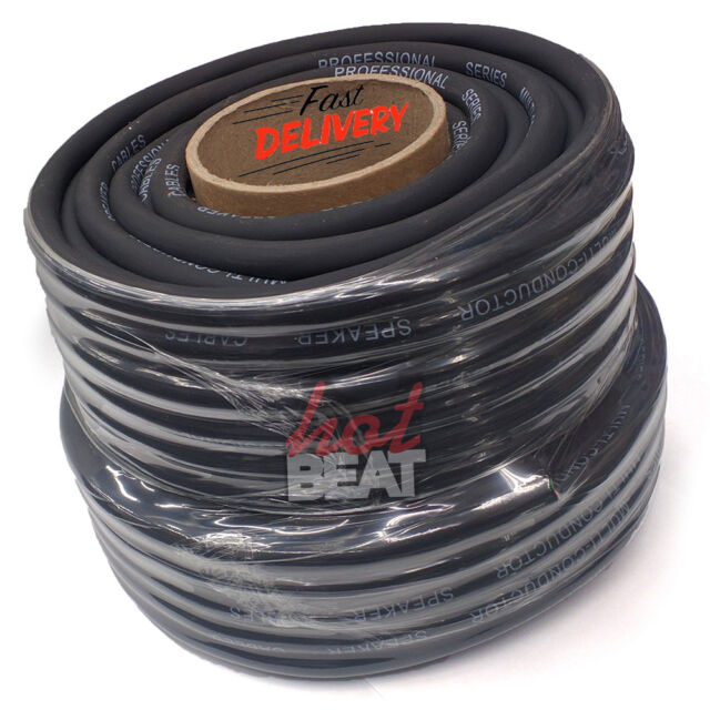 100 FT Foot Roll 12 Gauge GA Multi Conductor PA High Power Speaker ...
