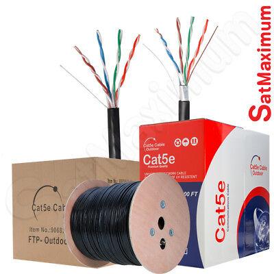 OUTDOOR Cat5 Bulk Cable 500ft 1000ft UTP FTP Ethernet Solid CAT5e Direct Burial (Direct Burial Ethernet Cable)