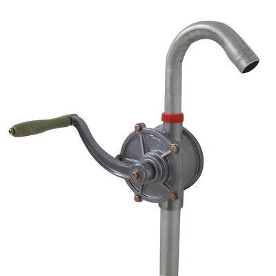 Portable10 Gpm Dispenser Fuel Hand Pump Hand Crank Aluminum Alloy Rotary Gas Oil