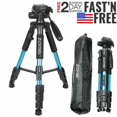 Professional Aluminum Tripod&Pan Head Portable For Canon Nikon Sony DSLR Camera