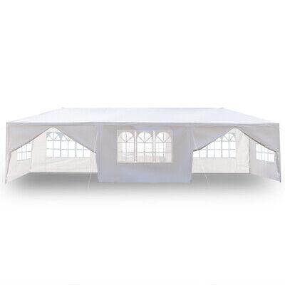 10x30' Gazebo Canopy Outdoor Party Tent Wedding Sun Shelter Waterproof W/2 Doors