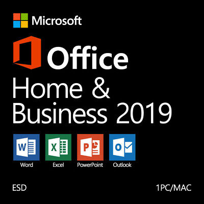 Microsoft Office Home and Business 2019 Windows 10 PC/Mac ✅Authorized Reseller
