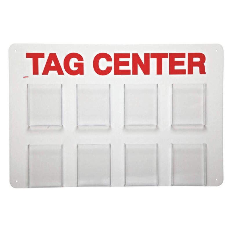 Tag Center,Unfilled,15-3/4 In. H TC8