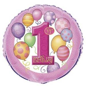 First 1st Birthday Girl Party Decorations Balloons Bundle Bexley North Rockdale Area Preview