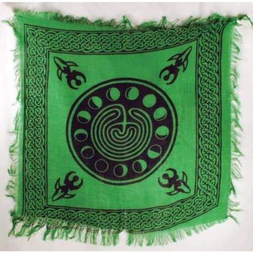 """Moon Phase Altar Cloth 18"""" x 18"""" Wiccan Witchcraft Supply Store"""