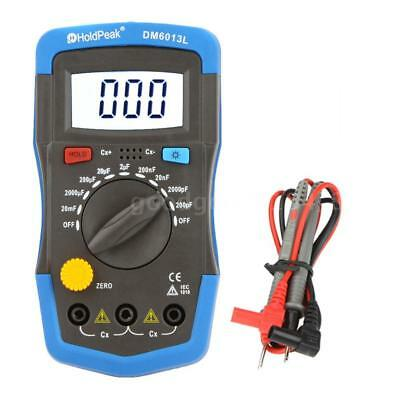 HoldPeak Digital Capacitance Meter Capacitor Tester Measure Tool LCD Backlight