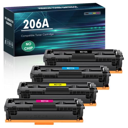 4x Color Toner Compatible for HP 206A W2110A LaserJet Pro M255dw M283fdw M283cdw