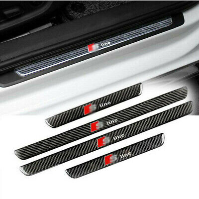 Real Carbon Fiber Anti-Scuff Car Door Sill Decal For Audi A5 2009-2016