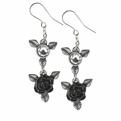 Alchemy Gothic Ring 'O Roses Pewter Pair of Earrings BRAND NEW