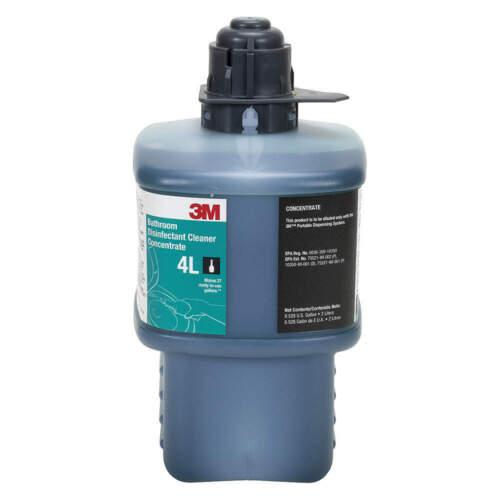 3M 4L Bathroom Disinfectant Cleaner,  2 Liter Makes 27 gal, Virucidal fungicida