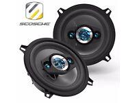 """Scosche HD5254 5.25"""" 200w Car Van Audio Shelf Door Panel Speakers - Pair"""