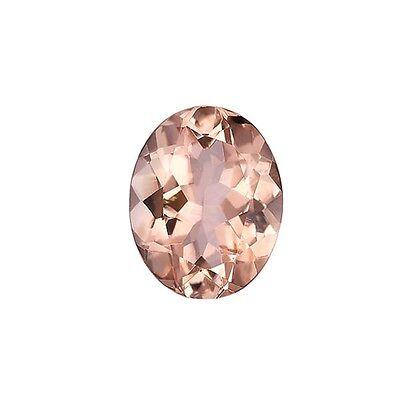 1.65ct 9x7mm Natural Oval Brilliant Cut Morganite Loose Gemstones