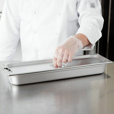 12 Size Long Slotted Stainless Steel Steam Table Hotel Pan Cover Lid