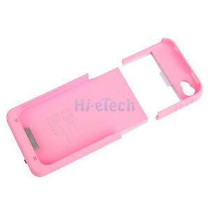 1/9 Backup External 1900mAh Battery Charger Case Power Bank for iphone 4 4G 4S