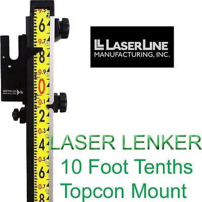 Laserline Lenker Rod 10 Foot Tenths With Topcon Mount