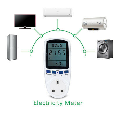 Power Consumption Meter Energy Monitor KWH Calculator Usage Plug In Electricity