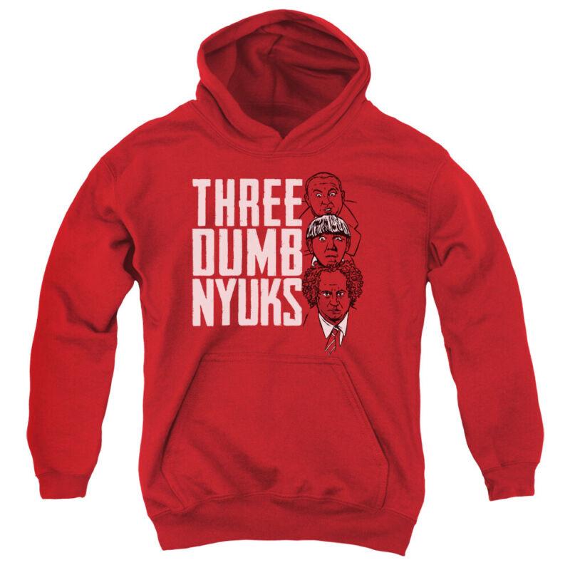 Three Stooges Kids Hoodie Three Dumb NYUKS Red Hoody