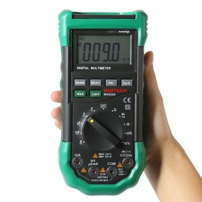 Mastech Ms8268 Auto Range Digital Multimeter Sound Light Alarm Measurement Tool