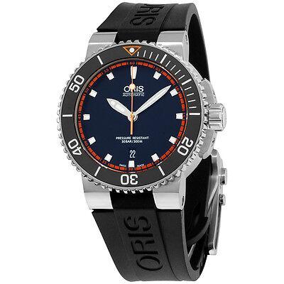 Oris Aquis Automatic Black Dial Silicone Strap Men's Watch 73376534128RS
